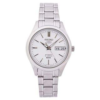 SEIKO / SNK887K1 / SEIKO 5 / AUTOMATIC / LADIES / 34 MM / 5ATM  / SILVER DIAL / STAINLESS STEEL CASE STRAP