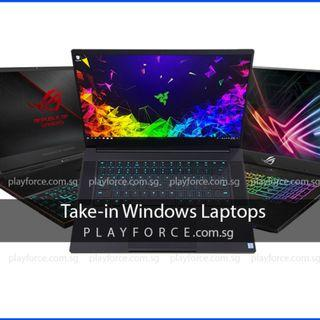 Buy All Laptop! - Microsoft Surface Pro 5 6 Surface Book 2 Acer Aftershock Alienware 15 17 Asus ROG Dell XPS 13 15 Gigabyte Lenovo LG MSI Razer Blade Pro wts sell