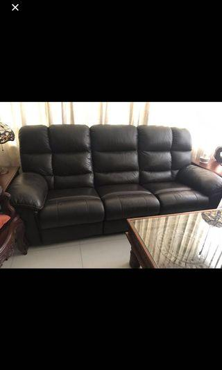 3 seater Full Leather Reclining Sofa