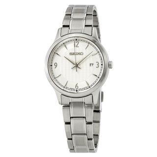 SEIKO / SXDG93P1 / QUARTZ / LADIES / 28 MM / 10ATM  / SILVER WHITE DIAL / STAINLESS STEEL CASE STRAP