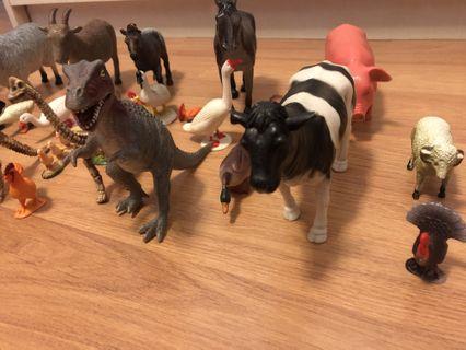 Animal and dinosaur toys
