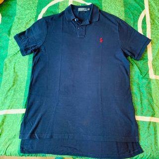 (購自美國) Polo Ralph Lauren Custom Fit Men Polo Shirt 男裝 寶藍色 短袖