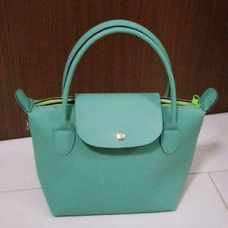 Brand New Turquoise Mini Tote Sling Lunch Bag