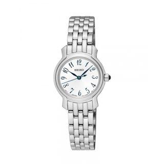SEIKO / SXGP63P1 / QUARTZ / LADIES / 25 MM / 10ATM  / SILVER DIAL / STAINLESS STEEL CASE STRAP