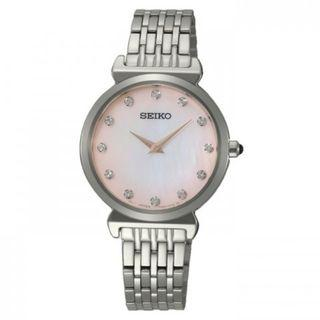 SEIKO / SFQ803P1 / QUARTZ / LADIES / 29.6MM / 5ATM  / PINK DIAL / STAINLESS STEEL CASE STRAP