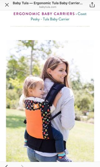 b4c8263f28b Lenny Lamb Rainbow Stars Baby Carrier with drool pads