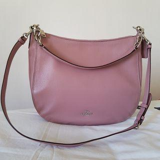 Authentic Coach Elle Leather Hobo 2-way bag dusty rose