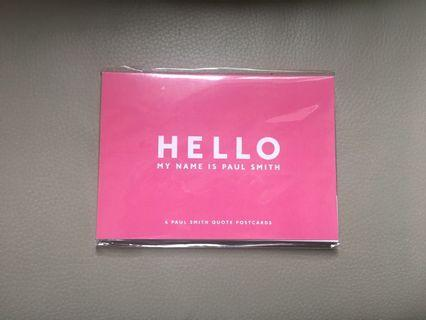 Paul Smith postcards 明信片 Hello my name is Paul Smith 6 cards