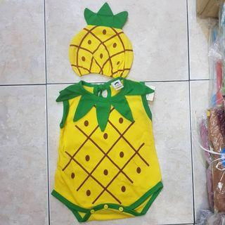 Baby costume pineaple