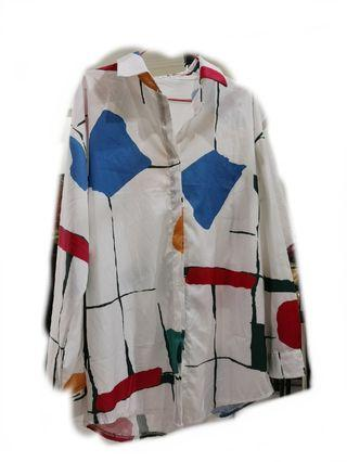 Modparade inspired abstract paint oversized shirt
