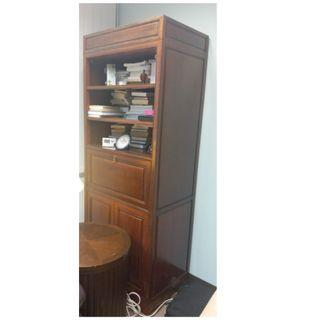 歐式木書櫃, 可放下書枱