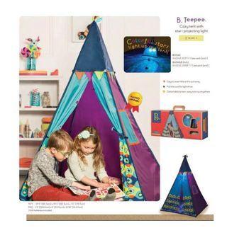 🚚 BNIB B. Teepee Tent with star glazing lights
