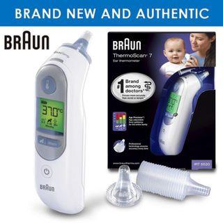 [April Sales] Brand New & Authentic BRAUN Thermoscan 7 Ear Thermometer IRT6520 and FREE SAME DAY DOORSTEP DELIVERY at S$75!