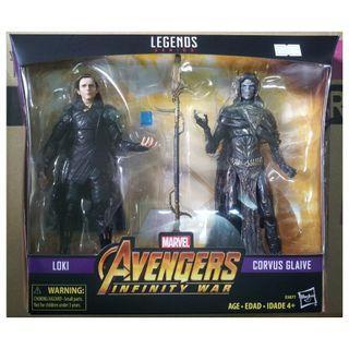 Marvel Legends Avengers Infinity War Loki & Corvus Glaive 2-Pack