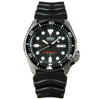 SEIKO / SKX007J1 / SPORTS / AUTOMATIC / MENS / 41 MM / 20ATM  /  DARK GREY DIAL / RUBBER STRAP
