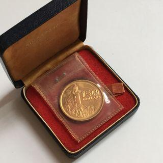 Singapore $150 Lighthouse 1969 Gold Coin with original box and holder