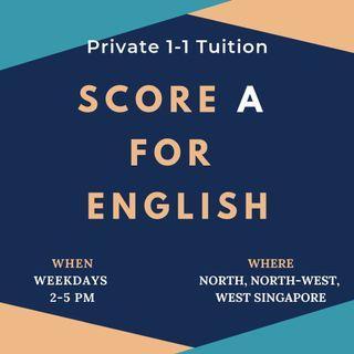 Secondary School 1-1 English Tuition