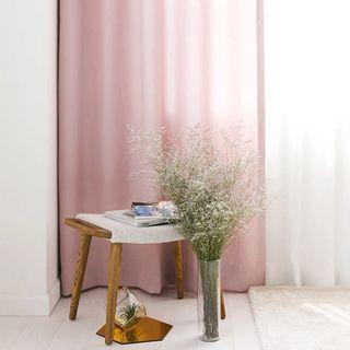 High quality eyelet curtain in pink x2
