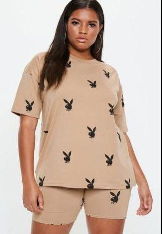Playboy x missguided Camel T shirt