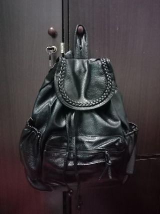 Black Backpack import. Bahan super bagus