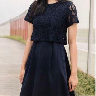 Fashmob navy lace dress #ENDGAMEyourEXCESS