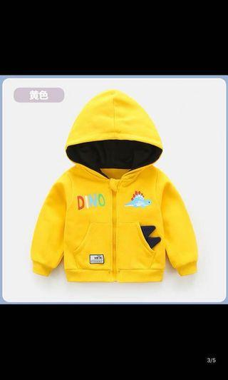 BB春、秋恐龍外套(紅色、黃色、藍色80、90、100碼)