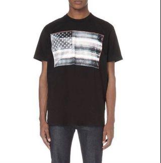 authentic givenchy tee flag size M