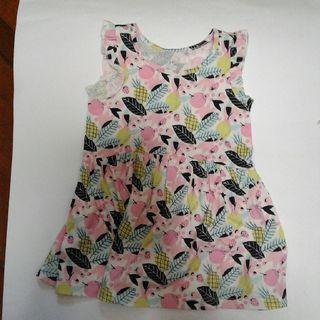 Pineapple Ruffle Sleeveless Dress
