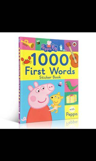 Peppa Pig First 1000 words  Sticker Books