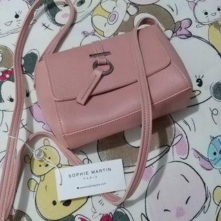 SOPHIE PARIS Tas pink ( Free nail Polish)