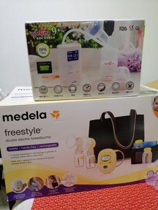 Medela Freestyle Breast Pump and spectra 9+