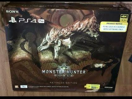 🚚 PS4 Pro Monster Hunter Edition