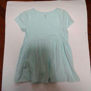 Blue Cap Sleeve Dress