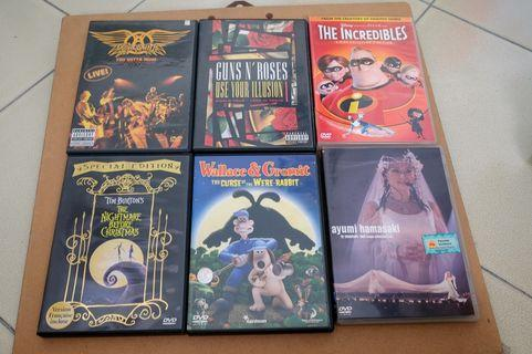DVDs music, animation