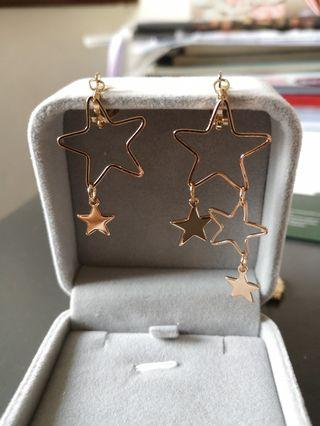 Star earring without earhole