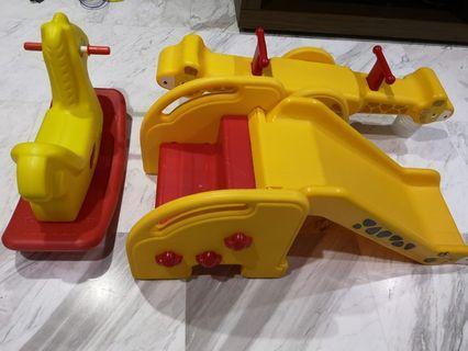 🚚 One Set Giraffe Slide See Saw Basketball Hoops And Rocking Horse