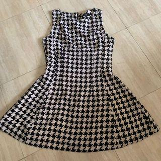 Formal dress for office checkered MDS