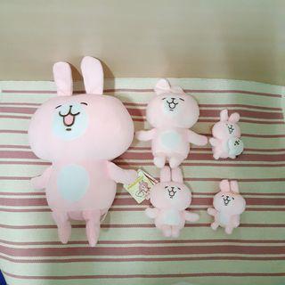 (6件組)全新 Kanahei 卡娜赫拉 兔兔 娃娃 絨毛玩偶 小吊飾