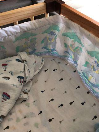 Baby cot side bumper #EndgameYourExcess