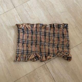 Checkered Tube Top stretchable