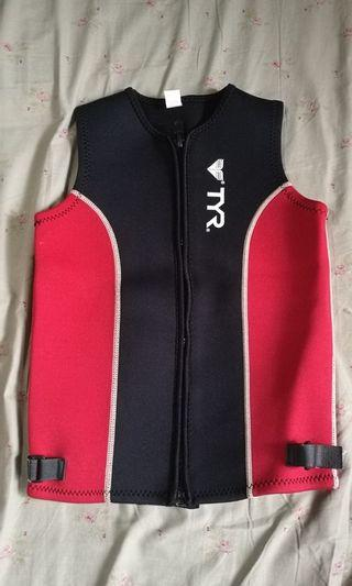 Wetsuit vest for kids tyr