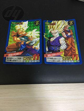 龍珠 dragon ball 30th 激鬥 super battle 週年 限定 悟空 悟飯 2 張 閃咭 閃卡