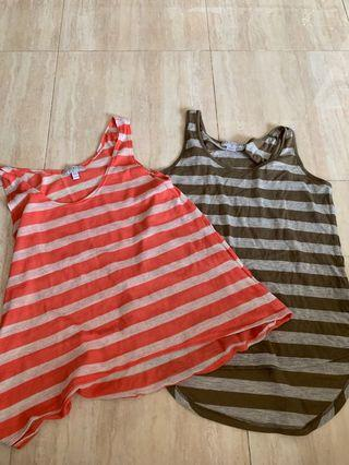 Cotton on stripes tops