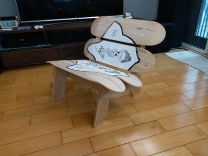 skateboard DIY chair