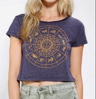 Urban Outfitters Truly Madly Deeply Zodiac Crop Top Tee