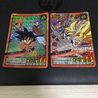龍珠 dragon ball GT 30th 紀念 super battle 悟空 杜拉格斯 亞包 閃咭 閃卡 2 張