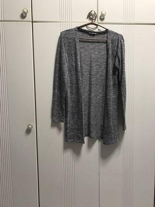 Grey grainy Long cardigan
