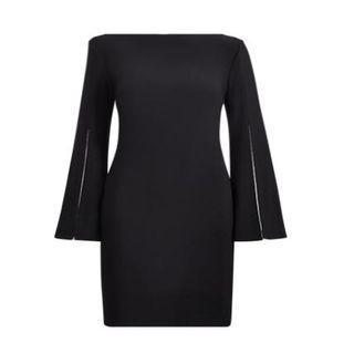 Split-sleeve Jersey Dress