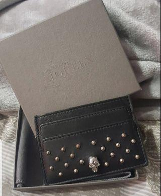 🚚 Aexander McQueen MCQ Leather with Studs Cardholder