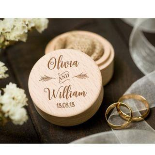 Personalized Wood Wedding Ring Box